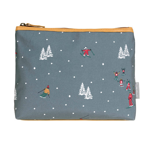 Skiing Oilcloth Wash Bag by Sophie Allport