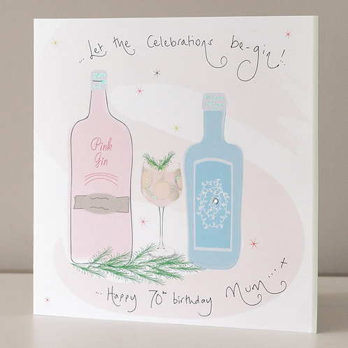 Gin Celebration Design - Large Card