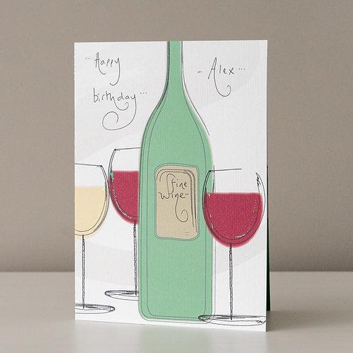 Fine Wine and Glasses Design