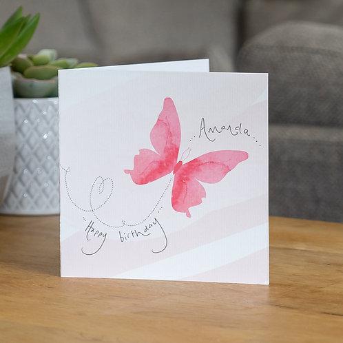 Watercolour Butterfly Design