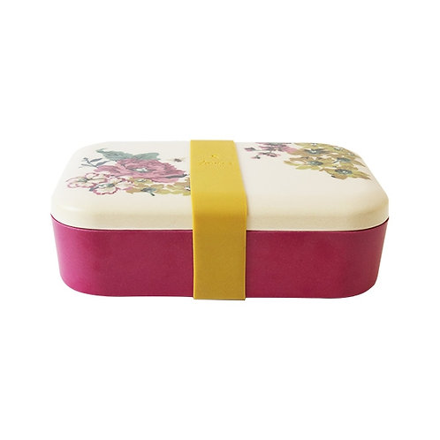 Joules Floral Bamboo Lunch Box