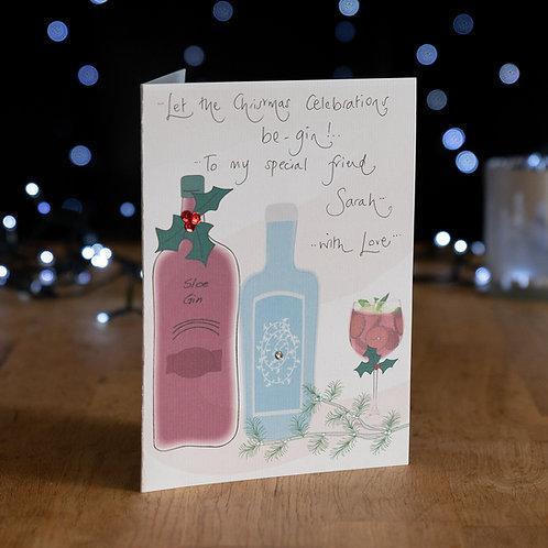 Celebrate Gin Christmas Design