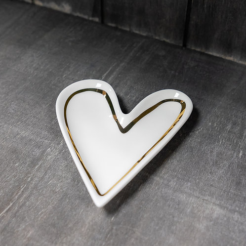 Heart Shaped Trinket Dish by Caroline Gardner