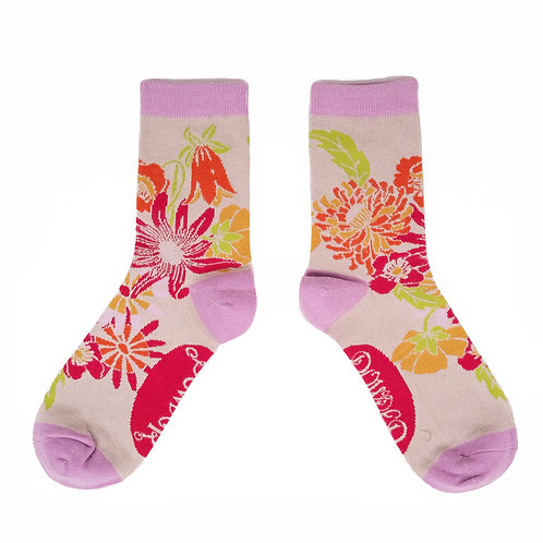 Bamboo Ankle Socks - Meadow