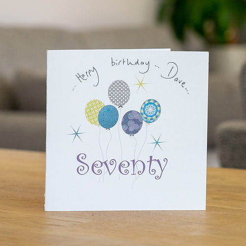 Birthday Balloons - Age Seventy