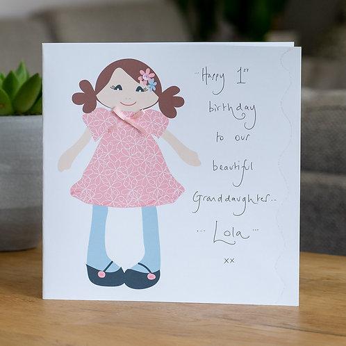 Rag Doll Design - Large Card