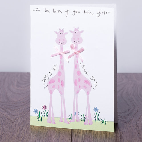 Giraffe in Pink - Twins