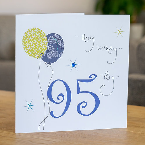 Birthday Balloon - Age 95 - Large Card