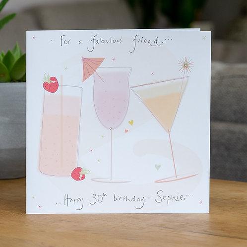 Cocktails Design - Large Square Card