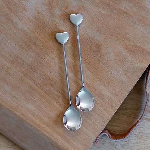 Heart Shaped Tea Spoons
