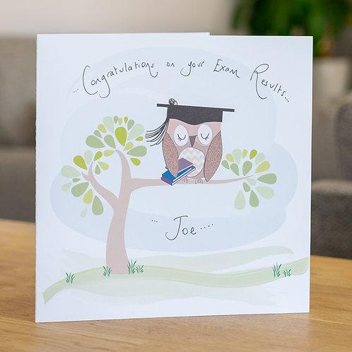 Owl and Books Congratulations