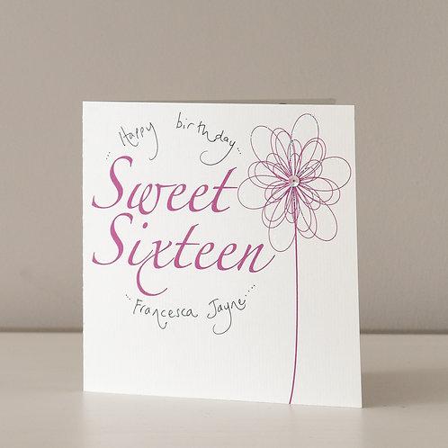 Swirly Magenta Flower - 16
