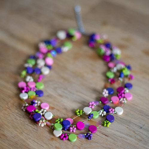 Fairground Attraction Wooden Bead Necklace