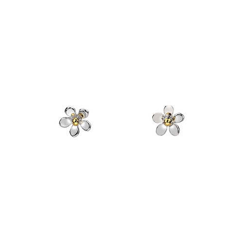 Sterling Silver Tiny Daisy Stud Earrings