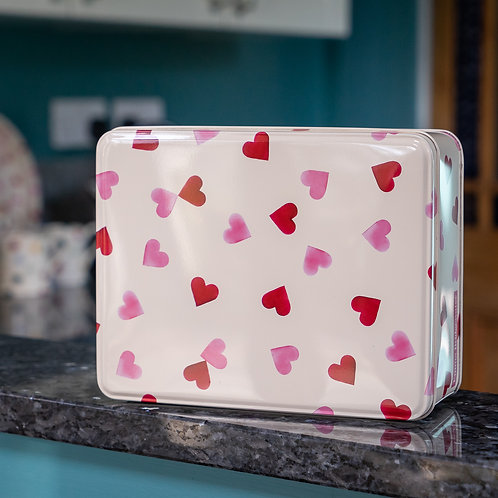 Emma Bridgewater - Pink Hearts Deep Rectangular Tin