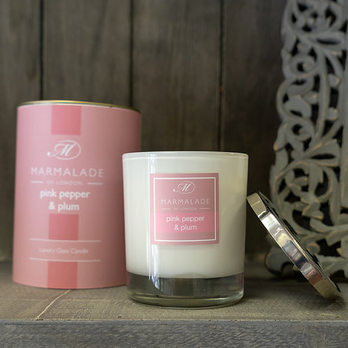 Pink Pepper & Plum Large Candle by Marmalade