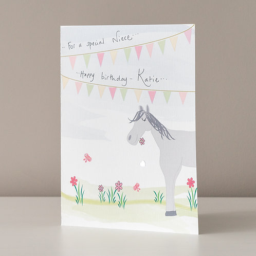 Horse and Bunting Design