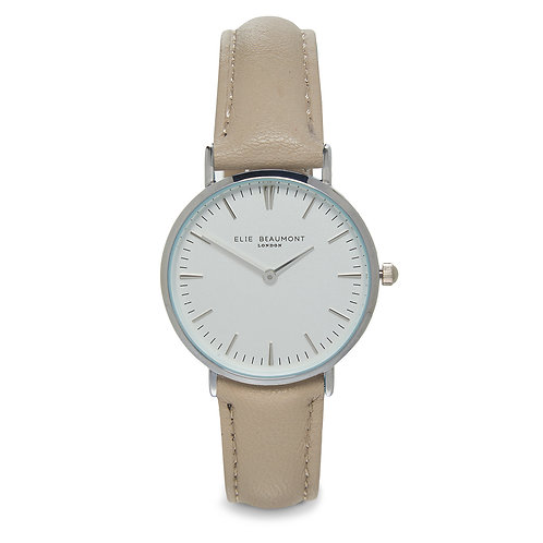 Elie Beaumont Small Oxford Watch with Stone Leather Strap