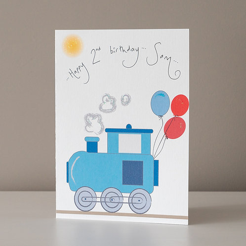 Steam Train with Balloons