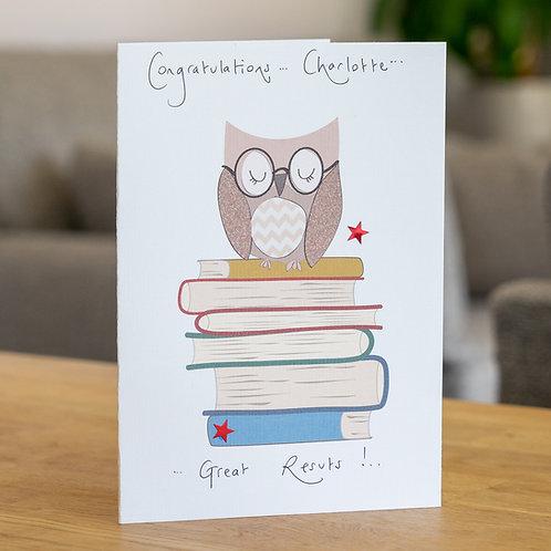 Owl on Books Design