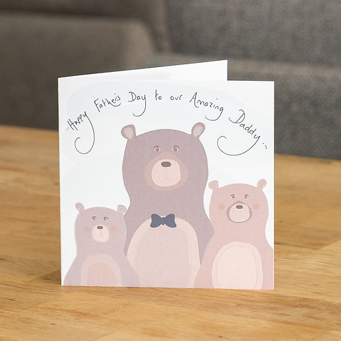 Daddy Bear with Two Young Bears Design