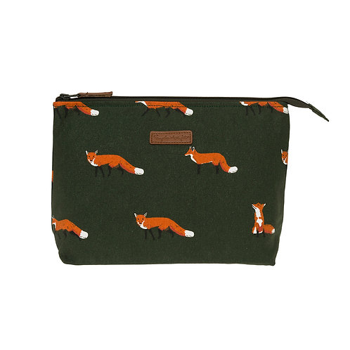 Foxy Large Canvas Wash Bag by Sophie Allport
