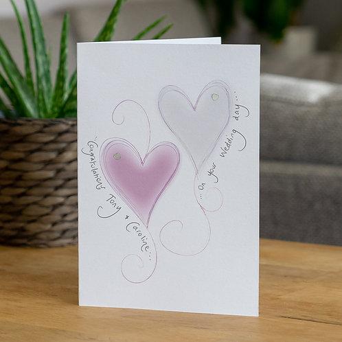 Pink Glow Hearts Design