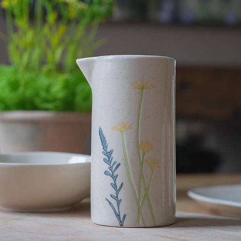 Ceramic Milk Jug - Yellow Daisy and Lavender