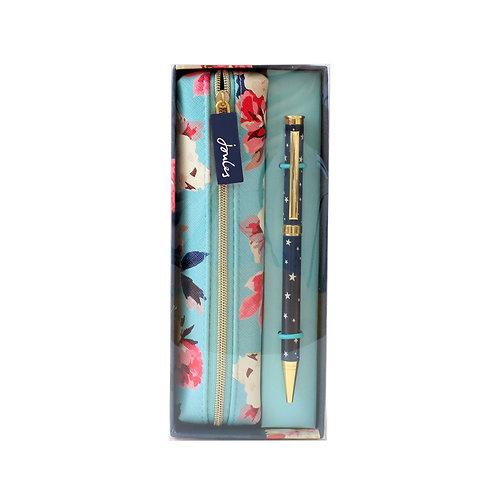 Joules Pen and Pencil Case Set