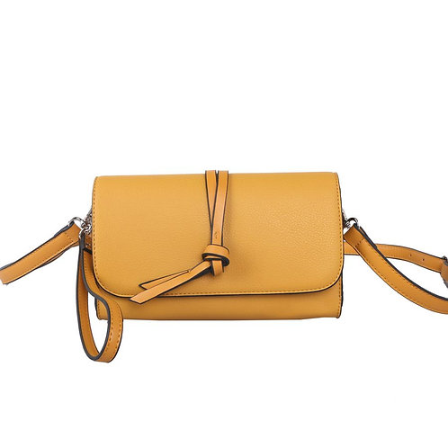Mustard Knotted Tassel Cross Body Bag by Red Cuckoo London