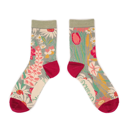 Bamboo Ankle Socks - Country Garden
