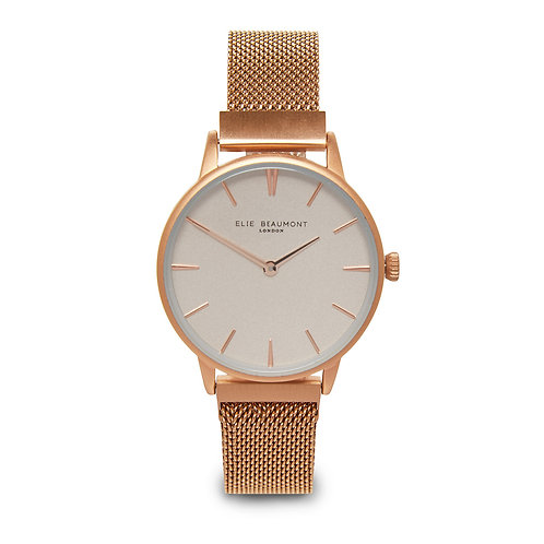 Elie Beaumont Rose Gold Holborn Watch