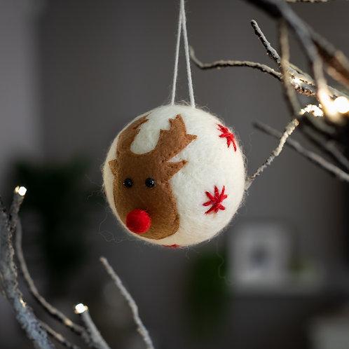 Rudolf Bauble Hanging Christmas Decoration