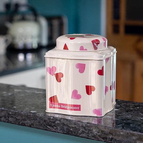 Emma Bridgewater - Pink Hearts Tea Caddy Tin with Tea Bags