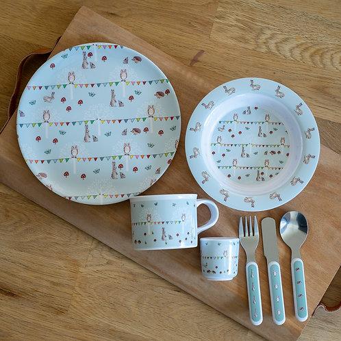 Children's Woodland Dinner Set by Sophie Allport