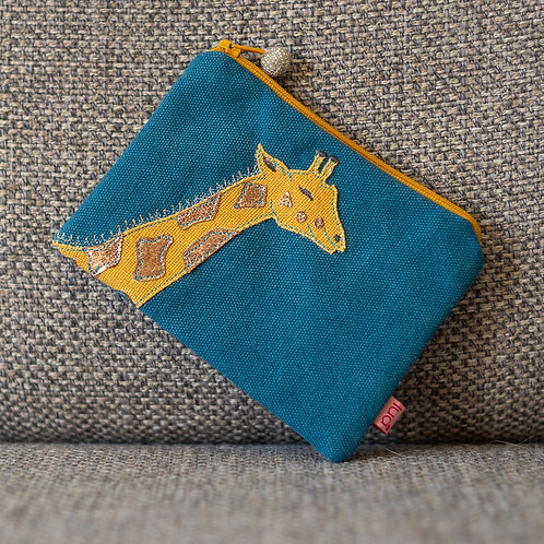 Applique Giraffe Design Coin Purse