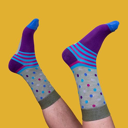 Men's Moss Spots Ankle Socks