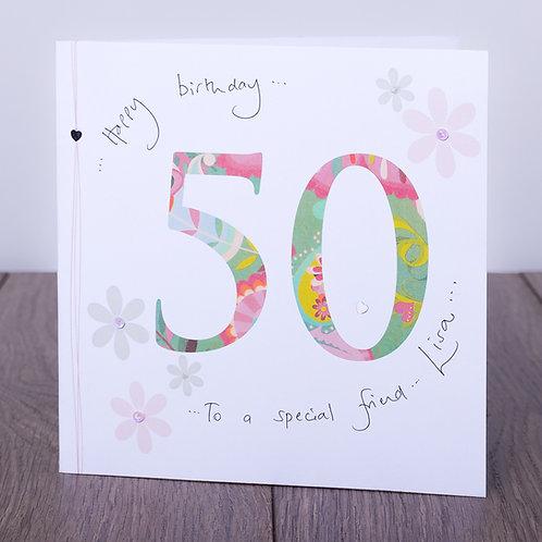 50th Birthday Floral