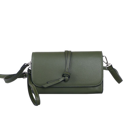 Green Knotted Tassel Cross Body Bag by Red Cuckoo London