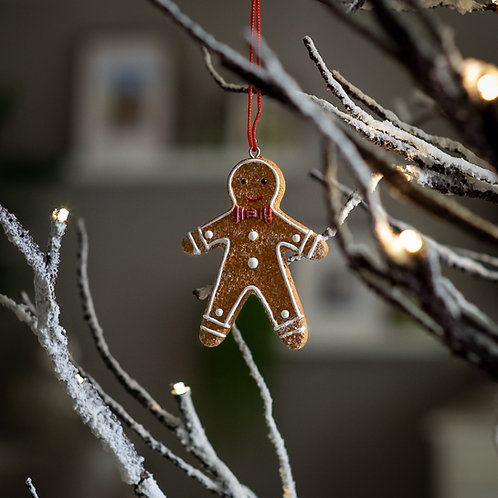 Gingerbread Man Hanging Christmas Decoration
