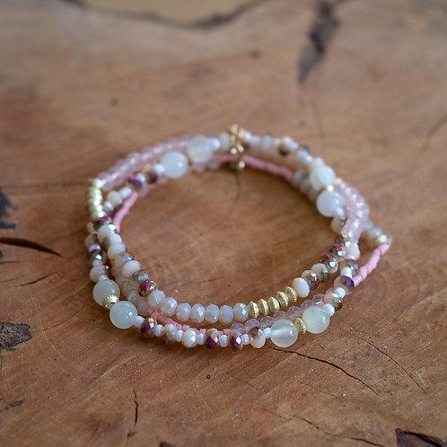 Three Strand Crystal Bracelet