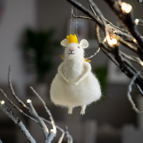 Mouse Angel Hanging Christmas Decoration