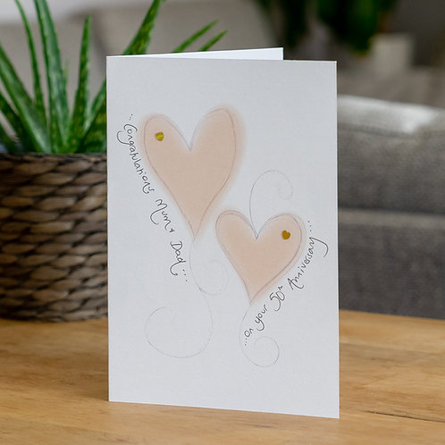 Golden Glow Hearts Design