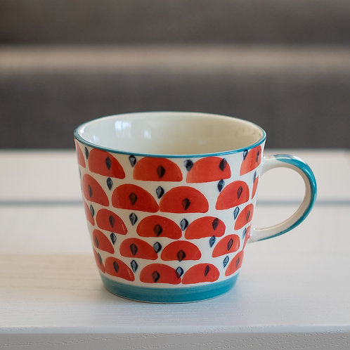 Ceramic Mug - Abstract Watermelon Design