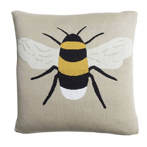Bee Knitted Cushion by Sophie Allport