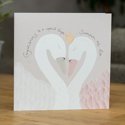 Elegant Swans Design - Large Card
