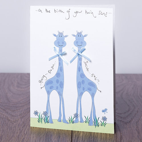 Giraffe in Blue - Twins