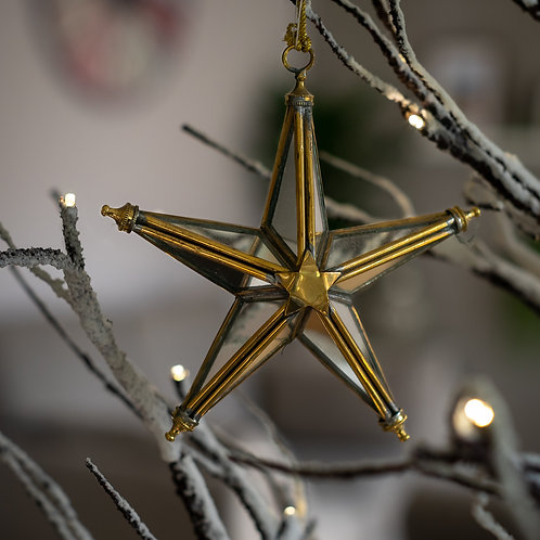 Mirrored Star Hanging Decoration