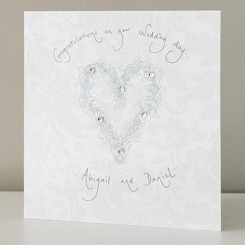 Silver Swirly Heart Design