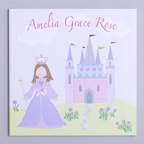 Princess Castle Personalised Canvas